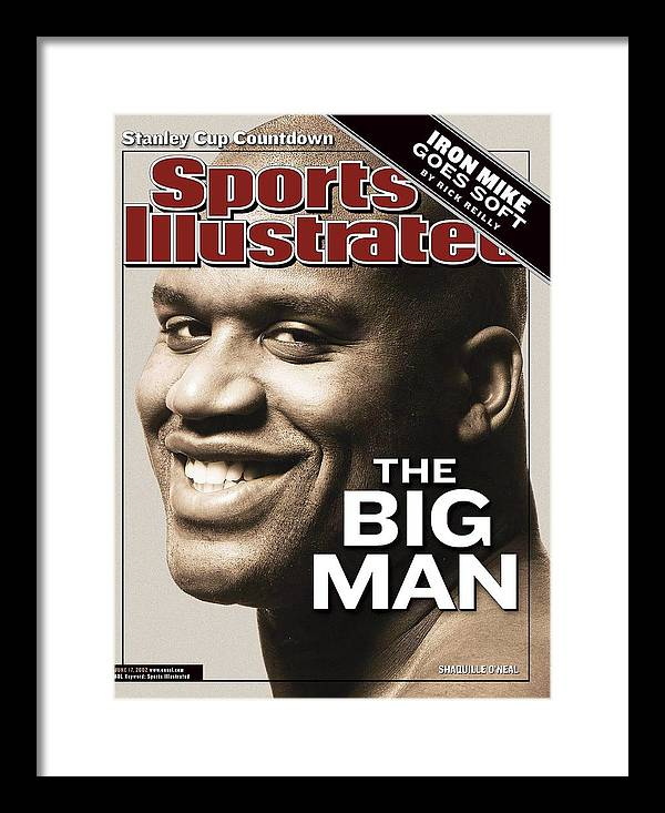 Magazine Cover Framed Print featuring the photograph Los Angeles Lakers Shaquille Oneal Sports Illustrated Cover by Sports Illustrated