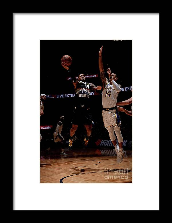 Nba Pro Basketball Framed Print featuring the photograph Los Angeles Lakers V Denver Nuggets by Bart Young