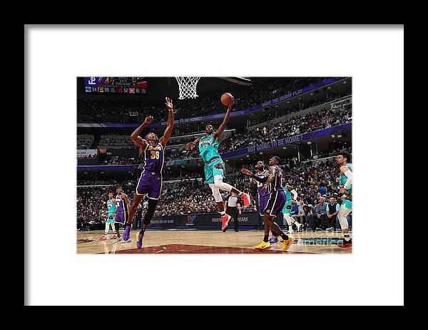 Nba Pro Basketball Framed Print featuring the photograph Los Angeles Lakers V Memphis Grizzlies by Joe Murphy