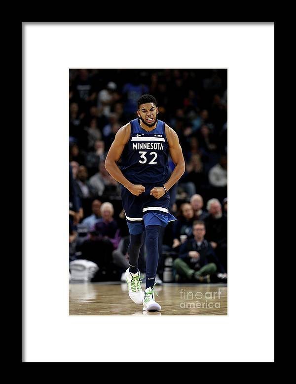 Nba Pro Basketball Framed Print featuring the photograph Los Angeles Lakers V Minnesota by Jordan Johnson