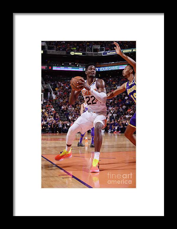 Nba Pro Basketball Framed Print featuring the photograph Los Angeles Lakers V Phoenix Suns by Michael Gonzales