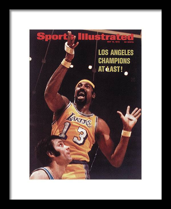 Playoffs Framed Print featuring the photograph Los Angeles Lakers Wilt Chamberlain, 1972 Nba Finals Sports Illustrated Cover by Sports Illustrated