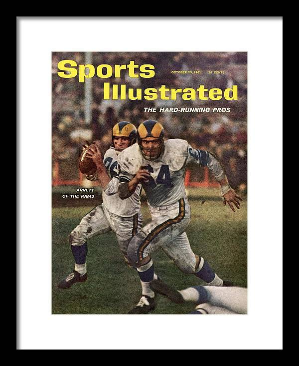 Magazine Cover Framed Print featuring the photograph Los Angeles Rams Jon Arnett And Roy Hord Sports Illustrated Cover by Sports Illustrated