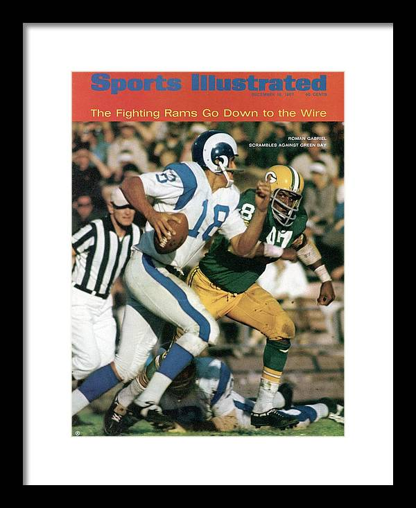 Sports Illustrated Framed Print featuring the photograph Los Angeles Rams Roman Gabriel Sports Illustrated Cover by Sports Illustrated
