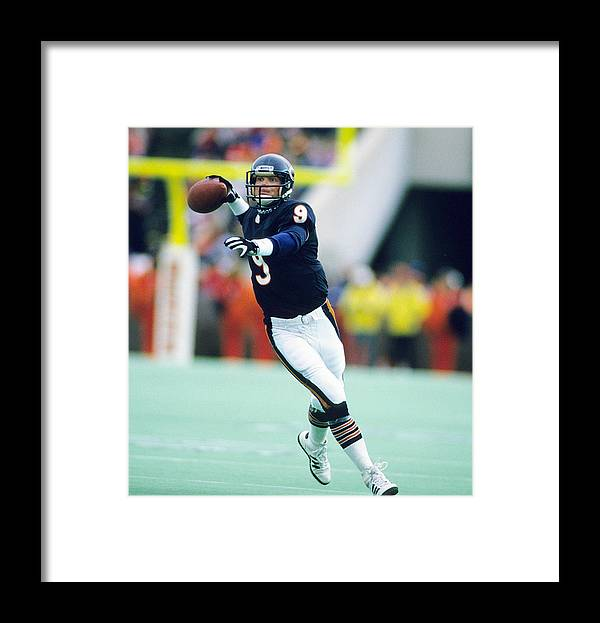 1980-1989 Framed Print featuring the photograph Los Angeles Rams V Chicago Bears by Ronald C. Modra/sports Imagery