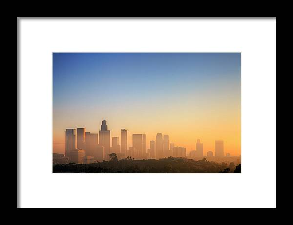 Tranquility Framed Print featuring the photograph Los Angeles Sunset by Eric Lo