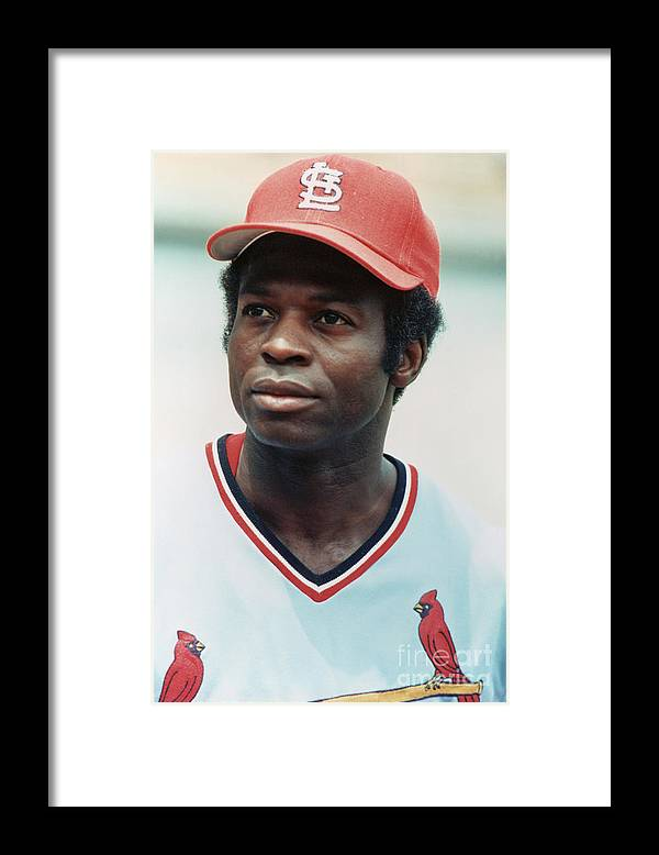 St. Louis Cardinals Framed Print featuring the photograph Lou Brock by Rich Pilling