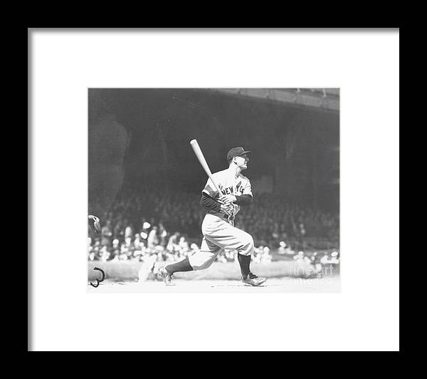 People Framed Print featuring the photograph Lou Gehrig by Louis Van Oeyen/ Wrhs
