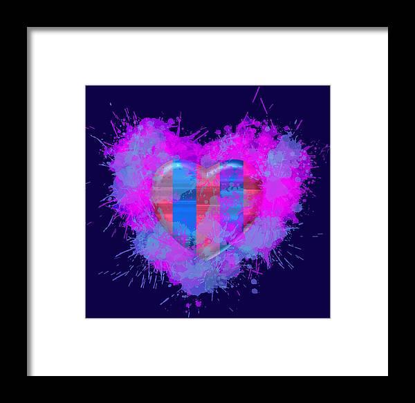 Barsa Framed Print featuring the digital art Love Barcelona by Alberto RuiZ