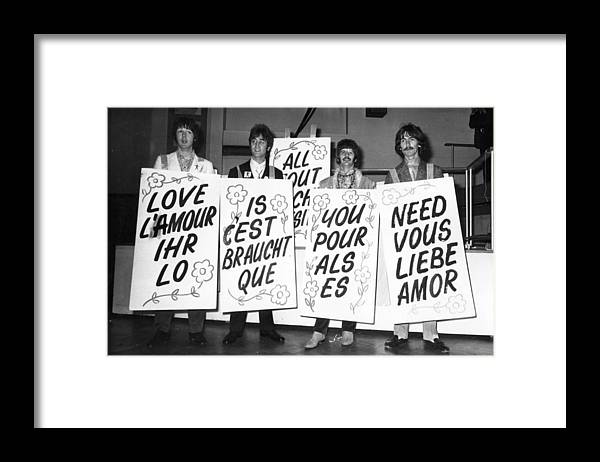 People Framed Print featuring the photograph Love Is All You Need by Jim Gray