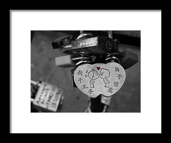 Photography Framed Print featuring the photograph Love Locks by Christine Buckley