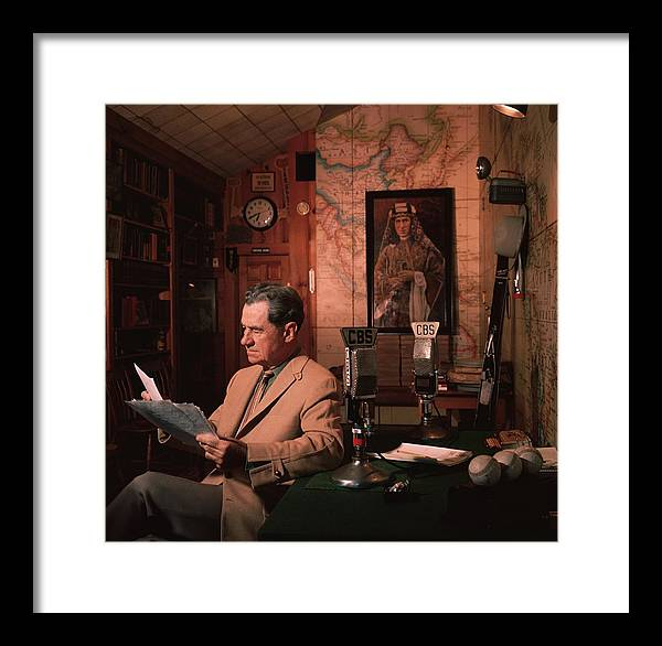 People Framed Print featuring the photograph Lowell Thomas by Slim Aarons