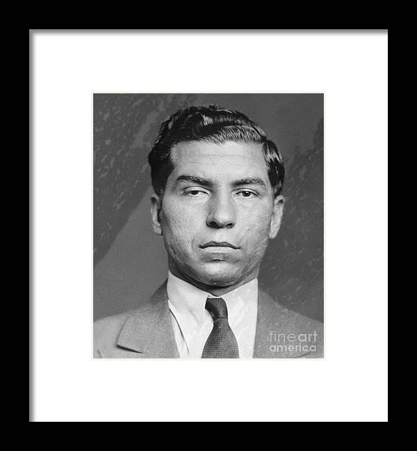 Gangster Framed Print featuring the photograph Lucky Luciano by Bettmann