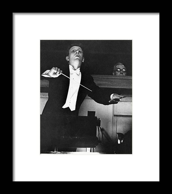 Musical Conductor Framed Print featuring the photograph Mackerras Conducts Janacek by Erich Auerbach