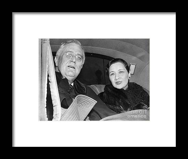 Mid Adult Women Framed Print featuring the photograph Madame Chiang Visits President Roosevelt by Bettmann