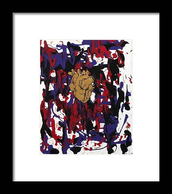 Love Framed Print featuring the painting Madness Behind the Beauty by Sonye Locksmith