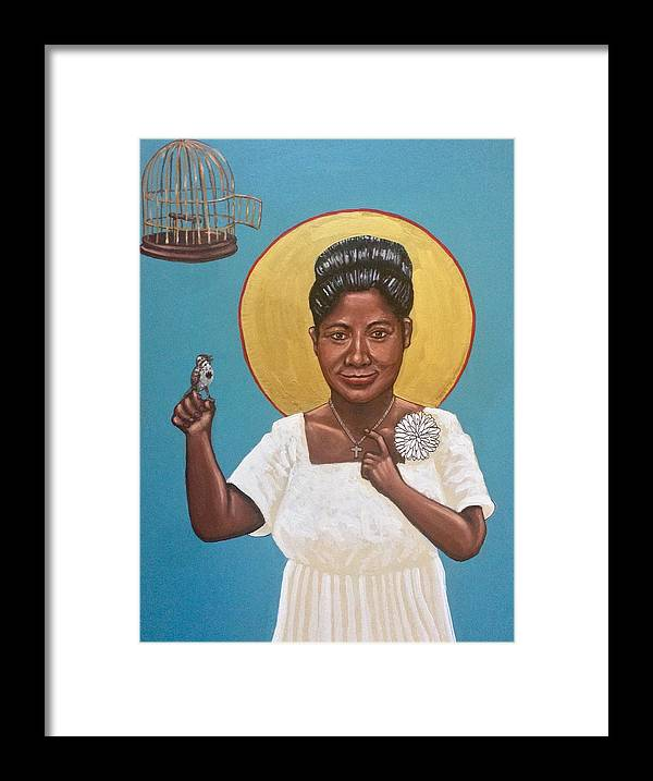 Framed Print featuring the photograph Mahalia Jackson by Kelly Latimore