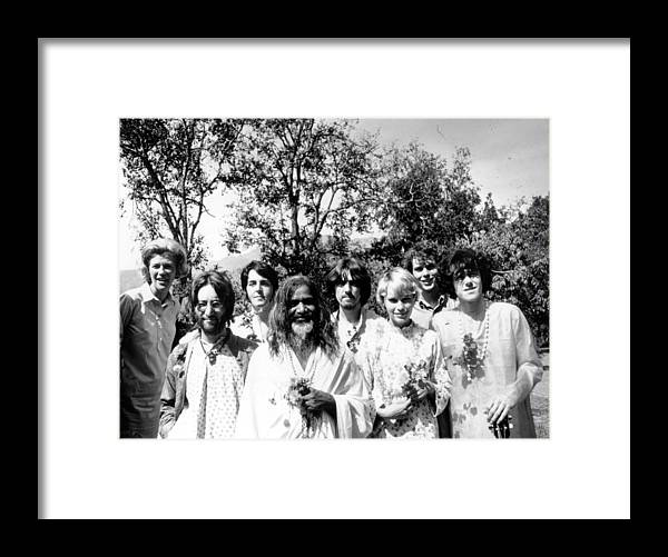 Following Framed Print featuring the photograph Maharishi And Pop Stars by Keystone Features