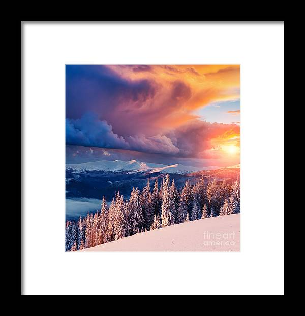 Perfect Framed Print featuring the photograph Majestic Landscape Glowing By Sunlight by Creative Travel Projects
