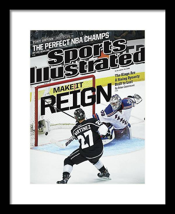 Magazine Cover Framed Print featuring the photograph Make It Reign The Kings Are A Rising Dynasty Built To Last Sports Illustrated Cover by Sports Illustrated