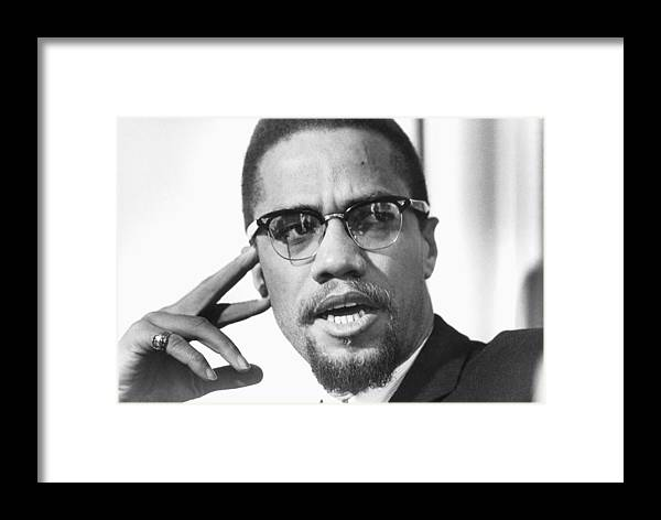 80eb3201b75 Music Framed Print featuring the photograph Malcolm X Portrait by Michael  Ochs Archives
