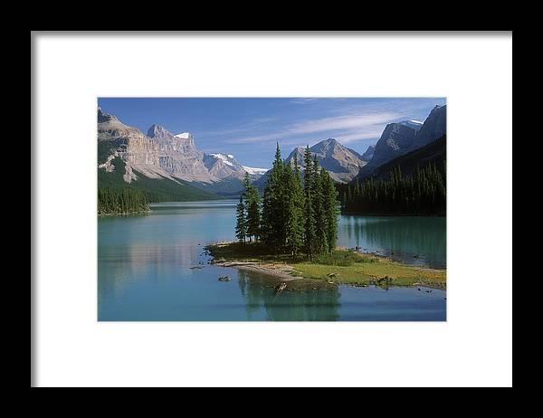 Tranquility Framed Print featuring the photograph Maligne Lake, Jasper National Park by Design Pics/bilderbuch