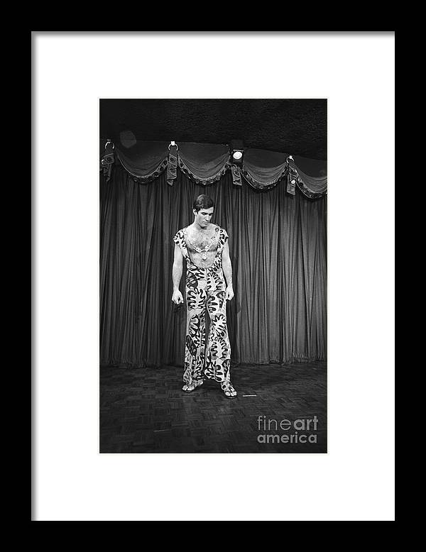 People Framed Print featuring the photograph Man Modeling New Fashion by Bettmann