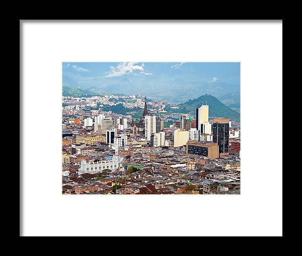 Built Structure Framed Print featuring the photograph Manizales City View, Colombia by Holgs