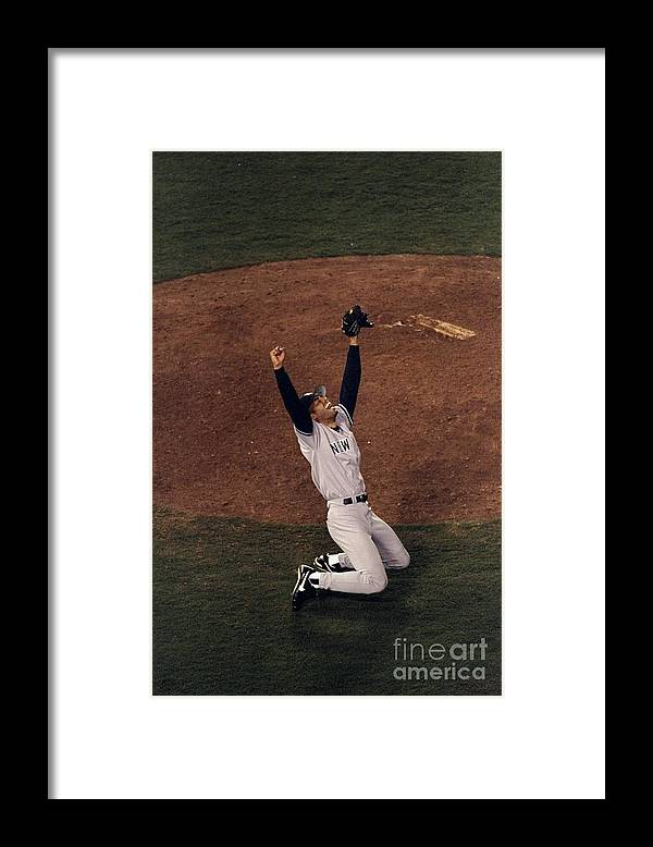 Following Framed Print featuring the photograph Mariano Rivera by Vincent Laforet