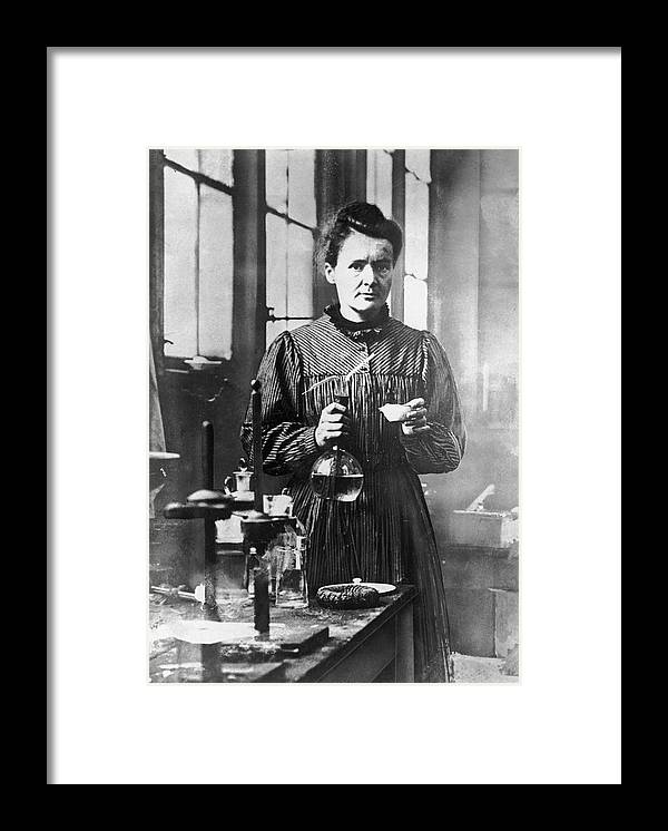 Marie Curie - Physicist Framed Print featuring the photograph Marie Curie by Hulton Archive