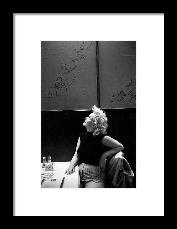People Framed Print featuring the photograph Marilyn Candid Moment by Michael Ochs Archives