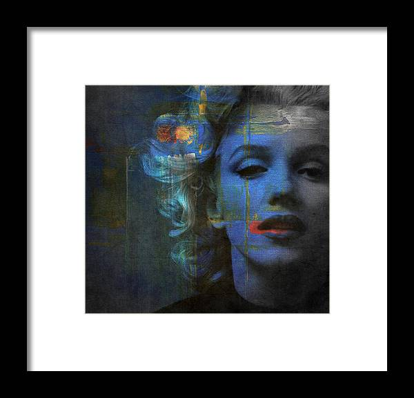 Monroe Framed Print featuring the mixed media Marilyn Monroe - Retro by Paul Lovering