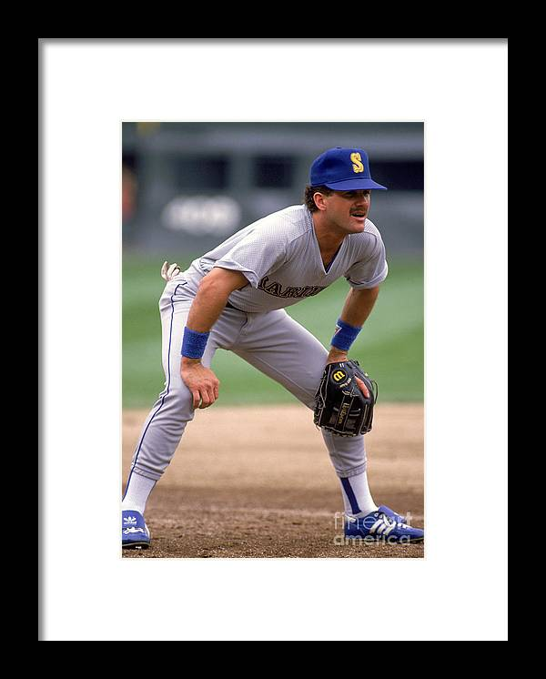 1980-1989 Framed Print featuring the photograph Mariners V White Sox by Jonathan Daniel