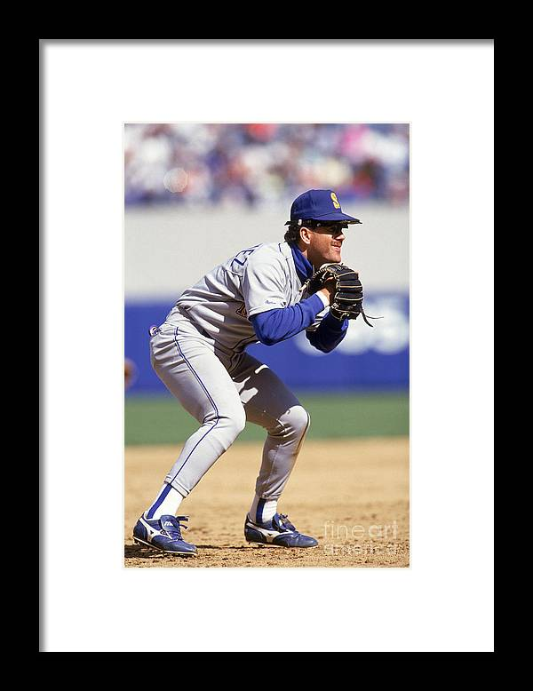 American League Baseball Framed Print featuring the photograph Mariners V Yankees by Lonnie Major