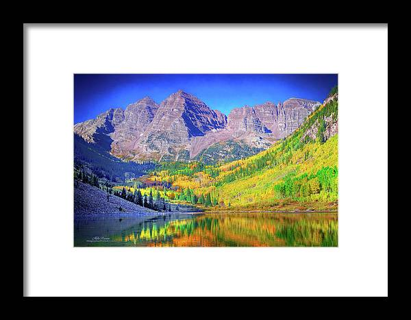Colorado Framed Print featuring the photograph Maroon Bells by Mike Braun