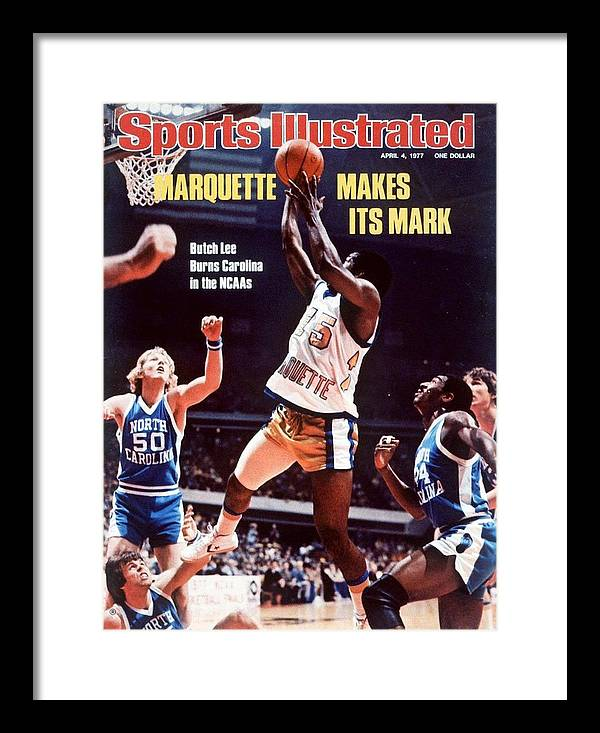 Atlanta Framed Print featuring the photograph Marquette Butch Lee, 1977 Ncaa National Championship Sports Illustrated Cover by Sports Illustrated