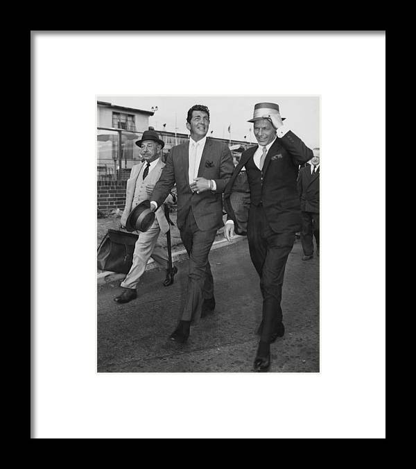 Singer Framed Print featuring the photograph Martin And Sinatra by J. Wilds