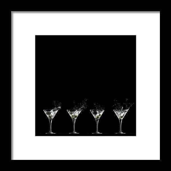 Martini Glass Framed Print featuring the photograph Martini Splash by Monica Rodriguez