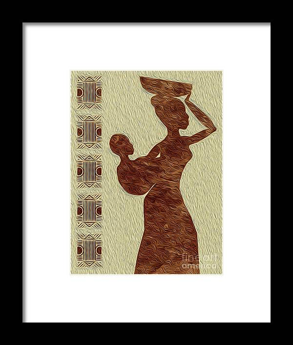 Art Print Framed Print featuring the digital art Maternal Grace African Fine Art II by Kenneth Montgomery