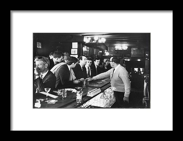 Sweater Framed Print featuring the photograph Mattachine Society Sip-in, 1966 by Fred W. McDarrah