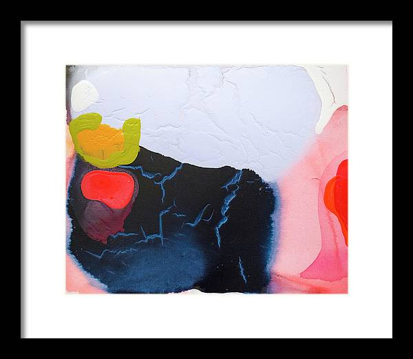 Abstract Framed Print featuring the painting Maya 01 by Claire Desjardins