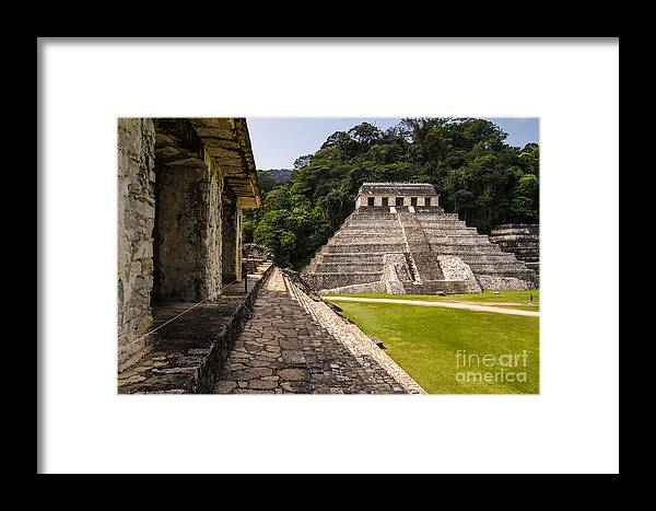 Civilization Framed Print featuring the photograph Mayan Ruins In Palenque, Chiapas by Photoshooter2015