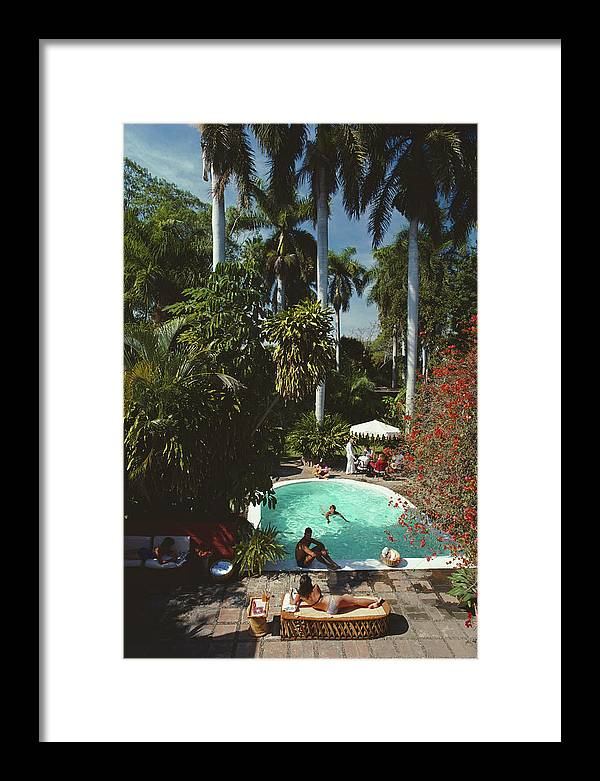 1980-1989 Framed Print featuring the photograph Mazatlan Mansion by Slim Aarons