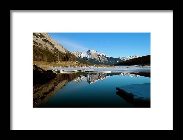 Scenics Framed Print featuring the photograph Medicine Lake, Jasper National Park by Design Pics/richard Wear