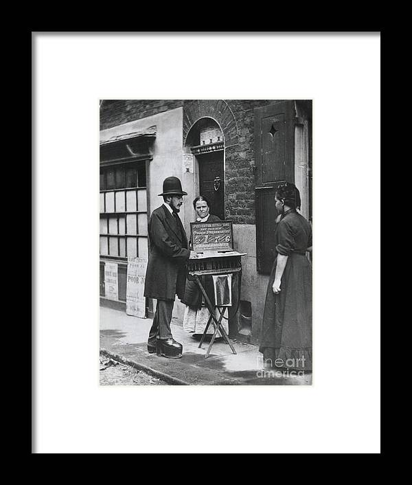 People Framed Print featuring the photograph Medicine Man Selling Tonic by Bettmann