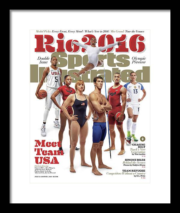 Magazine Cover Framed Print featuring the photograph Meet Team Usa 2016 Rio Olympic Games Preview Sports Illustrated Cover by Sports Illustrated