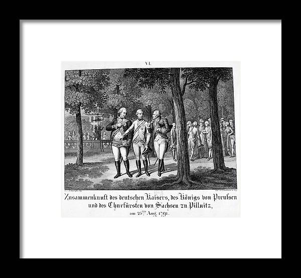 Engraving Framed Print featuring the drawing Meeting The German Emperor, 25th by Print Collector