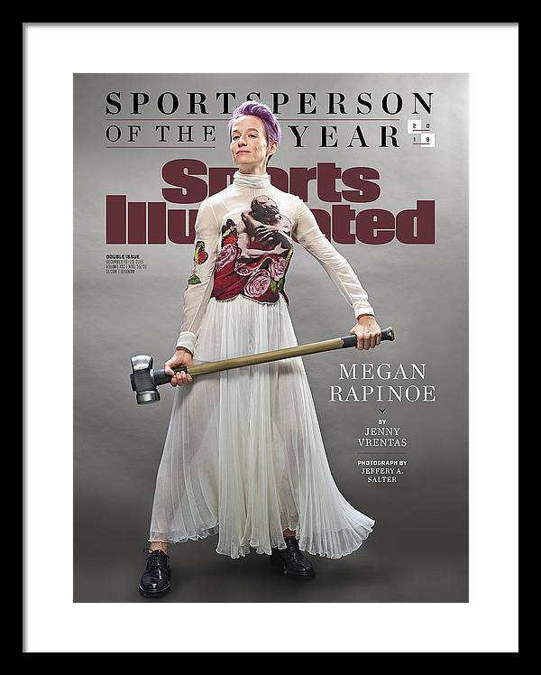 Megan Rapinoe, 2019 Sportsperson Of The Year Sports Illustrated Cover Framed Print