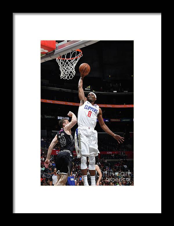 Moe Harkless Framed Print featuring the photograph Melbourne United V Los Angeles Clippers by Adam Pantozzi