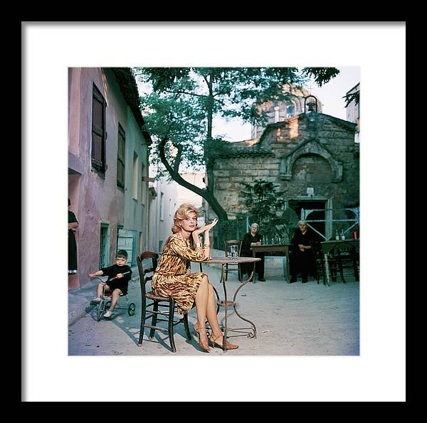 Child Framed Print featuring the photograph Melina Mercouri by Slim Aarons